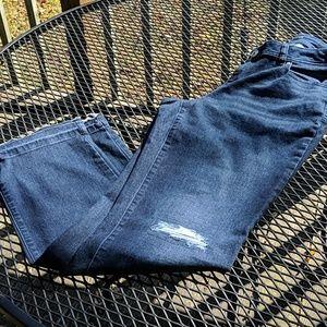 iNC distressed raw hem curvy fit jeans Tall inseam